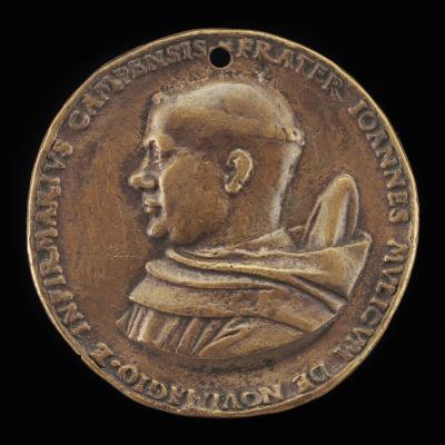 Image for Johannes Mulicum, Infirmarian of the Cistercian Monastery at Kamp near Neuss [obverse]; Inscription [reverse]