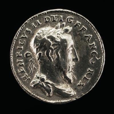 Image for Henri II, 1519-1559, King of France 1547 [obverse]; Victory [reverse]