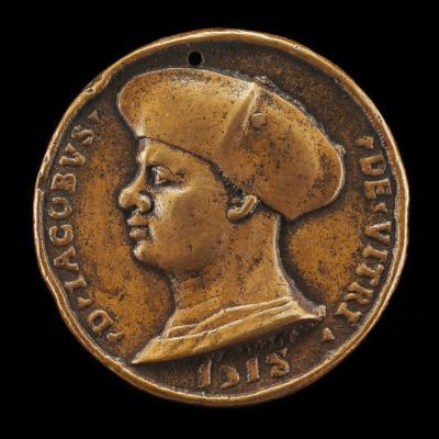 Image for Jacques de Vitry-La Lière, died 1515, Canon, Dean, and Chancellor [obverse]; Putto Holding Arms of Vitry [reverse]