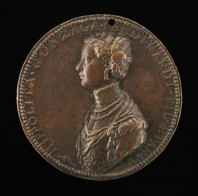 Image for Ippolita di Ferdinando Gonzaga, 1535-1563 [obverse]; Ippolita Looking at a Crown of Stars [reverse]