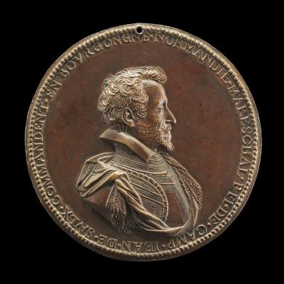 Image for Jean de Saulx, 1555-1629, Viscount of Tavanes and Lugny, and Marquess of Mirabet [obverse]; Rampant Lion on a Chain [reverse]