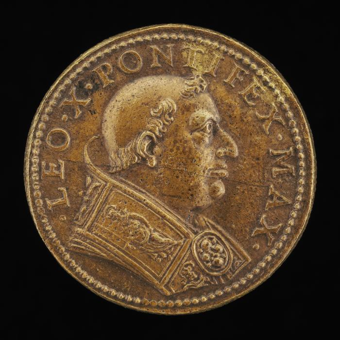 Image for Leo X (Giovanni de' Medici, 1475-1521), Pope 1513 [obverse]; Liberality [reverse]