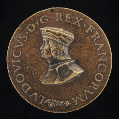 Image for Louis XII, 1462-1515, King of France 1498 [obverse]; Mars Pursuing other Figures [reverse]