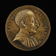 Image for Luca Salvioni, died 1536, Paduan Jurist [obverse]; Ceres with Book and Cornucopiae [reverse]