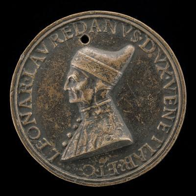 Image for Leonardo Loredano, 1436-1521, Doge of Venice 1501 [obverse]; Equity Holding Scales and Septre [reverse]