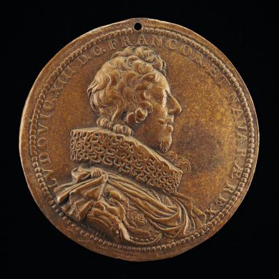 Image for Louis XIII, 1601-1643, King of France 1610 [obverse]; Anne of Austria, 1601-1666, Wife of King Louis XIII of France 1615 [reverse]
