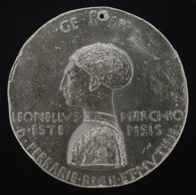Image for Leonello d'Este, 1407-1450, Marquess of Ferrara 1441 [obverse]; Lion Being Taught by Cupid to Sing [reverse]