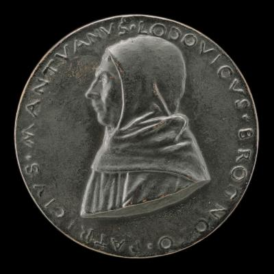 Image for Lodovico Brognolo, of the Observant Friars, Patrician of Mantua [obverse]; Two Forearms Joined in Prayer [reverse]