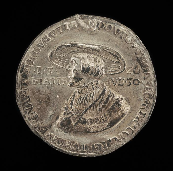 Image for Louis II, 1506-1526, King of Hungary and Bohemia 1516 [obverse]; Maria, Wife of Ludwig II of Hungary [reverse]