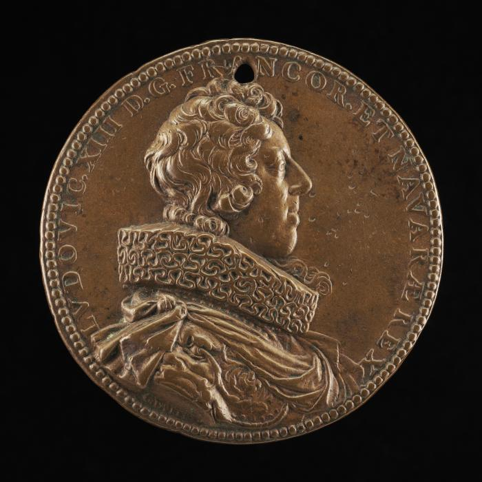 Image for Louis XIII, 1601-1643, King of France 1610 [obverse]; Justice with Sword and Scales [reverse]
