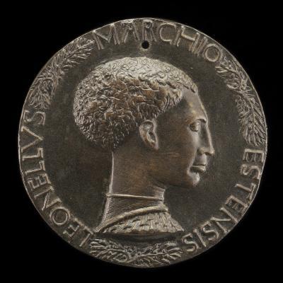 Image for Leonello d'Este, 1407-1450, Marquess of Ferrara 1441 [obverse]; Head with Three Infantile Faces [reverse]