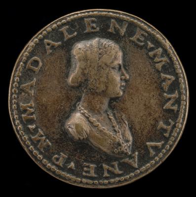 Image for Maddalena of Mantua [obverse]; Swan Standing on a Bow and Quiver [reverse]