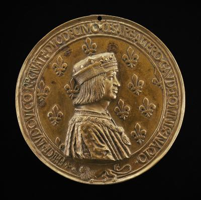 Image for Louis XII, 1462-1515, King of France 1498 [obverse]; Anne of Brittany, Wife of Louis XII 1498, died 1514 [reverse]