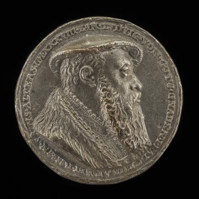 Image for Ludwig X, 1495-1545, Duke of Bavaria 1514 [obverse]; Shield with Casques and Crests [reverse]