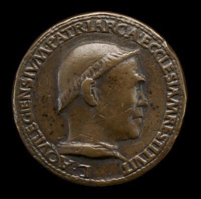 Image for Lodovico Scarampi (Mezzarota), died 1465, Patriarch of Aquileia 1444 [obverse]; Triumphal Procession [reverse]