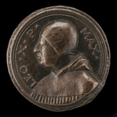 Image for Leo X (Giovanni de' Medici, 1475-1521), Pope 1513 [obverse]; Medici Arms [reverse]