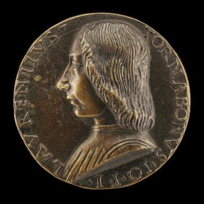 Image for Lorenzo di Giovanni Tornabuoni, 1466-1497 [obverse]; Mercury Carrying a Caduceus [reverse]