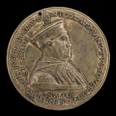 Image for Niccolò Sanuti, c. 1407-1482, Noble of Bologna [obverse]; Pelican in Her Piety and Inscription [reverse]