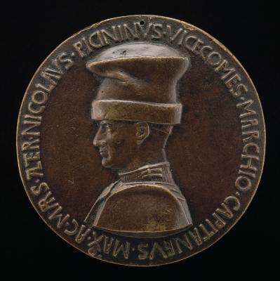 Image for Niccolò Piccinino, 1386-1444, Condottiere [obverse]; The She-Griffin of Perugia Suckling Two Infants [reverse]