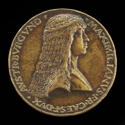 Image for Maximilian I, 1459-1519, Archduke of Austria, afterwards Emperor 1493 [obverse]; Maria of Burgundy, died 1482, Wife of Maximilian of Austria 1477 [reverse]