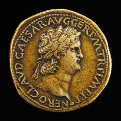 Image for Nero, A.D. 37-68, Roman Emperor A.D. 54 [obverse]; Ceres and Annona [reverse]
