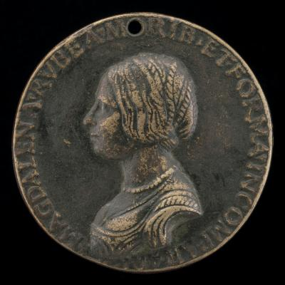 Image for Maddalena Rossi [obverse]; Captive Love Bound to a Tree [reverse]