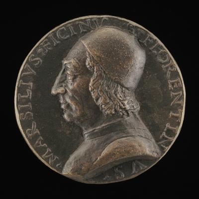 Image for Marsilio Ficino, 1433-1499, Florentine Humanist [obverse]; Inscription [reverse]