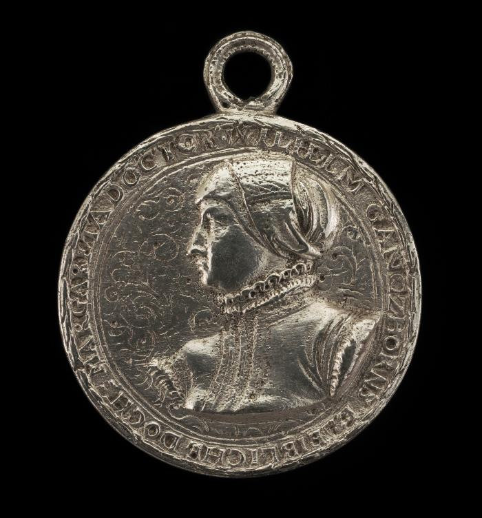 Image for Margarethe Ganzhorn Balbus, Wife of Johann Balbus [obverse]; Two Shields [reverse]