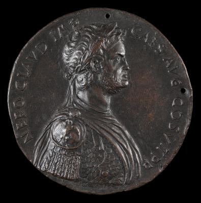 Image for Nero, 37-68, Roman Emperor 54 [obverse]; Nero, Laureate, Seated Under Palm Tree [reverse]