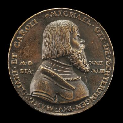 Image for Michael Ott von Aechterdingen, c. 1479-1532 [obverse]; Coat of Arms [reverse]