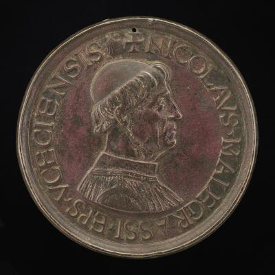 Image for Nicolas Maugras, Bishop of Uzes 1483-1503 [obverse]; Arms of Maugras over a Crozier [reverse]