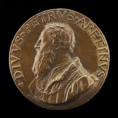 Image for Pietro Aretino, 1492-1556, Satirist [obverse]; Truth Crowned by Victory [reverse]