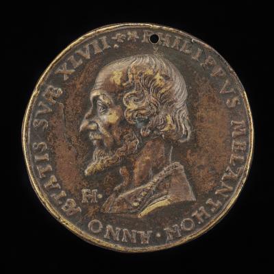 Image for Philipp Melanchthon, 1497-1560, Reformer [obverse]; Inscription [reverse]