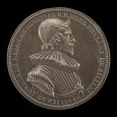 Image for Noël Brulart de Sillery, 1577-1640, Knight of Malta 1632 [obverse]; Achievement of Brulart [reverse]