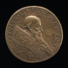 Image for Paul III (Alessandro Farnese, 1468-1549), Pope 1534 [obverse]; Ganymede Watering the Farnese Lilies [reverse]