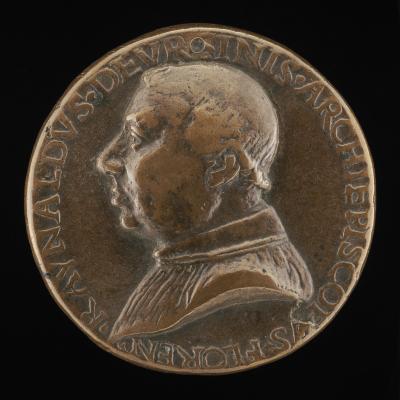 Image for Rinaldo Orsini, d. 1510, Archbishop of Florence 1474 [obverse]; Fortune Holding a Rudder and Cornucopiae [reverse]