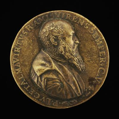 Image for Pietro Lauro, born 1508, Modenese Poet and Scholar [obverse]; Inscription Within a Wreath [reverse]