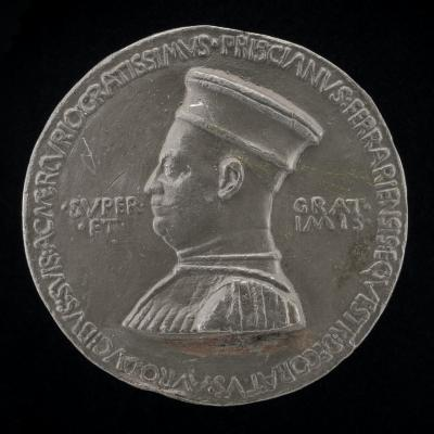 Image for Pellegrino Prisciani, c. 1435-1518, Man of Letters and Agent of the Estensi [obverse]; Man Standing on an Eagle [reverse]