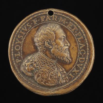 Image for Pier Luigi Farnese, 1503-1547, 1st Duke of Parma and Piacenza 1545 [obverse]; Citadel of Parma [reverse]