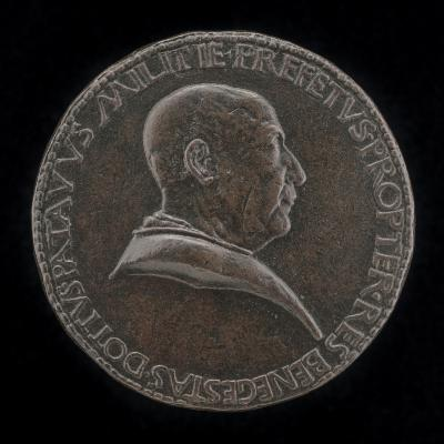 Image for Paolo Dotti of Padua (?), General of Militia in Vicenza 1289 [obverse]; Constancy Resting on Staff and Column [reverse]