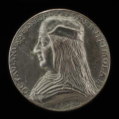 Image for Ottaviano Sforza Riario, b. 1479, Count of Forli and Imola [obverse]; Ottaviano Riding with Drawn Sword [reverse]