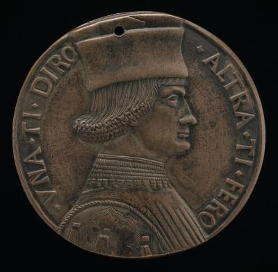 Image for Portrait of a Man [obverse]; Object Resembling Double Axe-head [reverse]