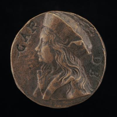 """Image for Portrait of a Boy, Perhaps a Member of the Carrara Family [obverse]; The Heraldic """"Carro"""" [reverse]"""