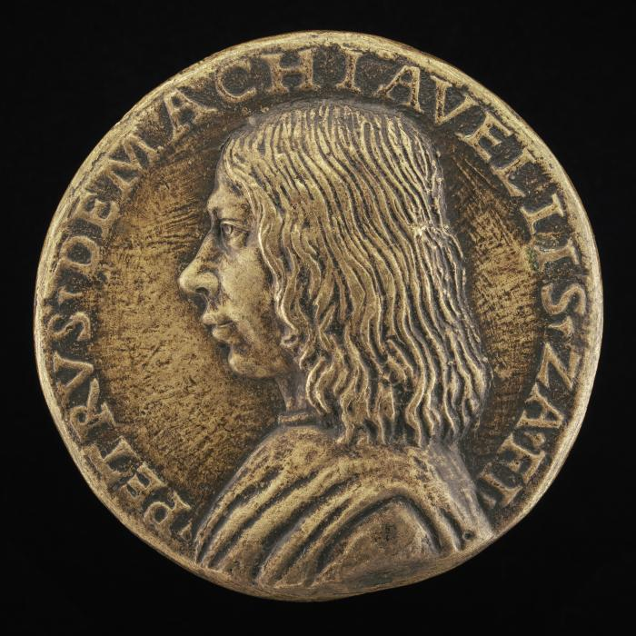Image for Pietro Machiavelli, 1460/1461-1519 [obverse]; Eagle and Machiavelli Shield [reverse]