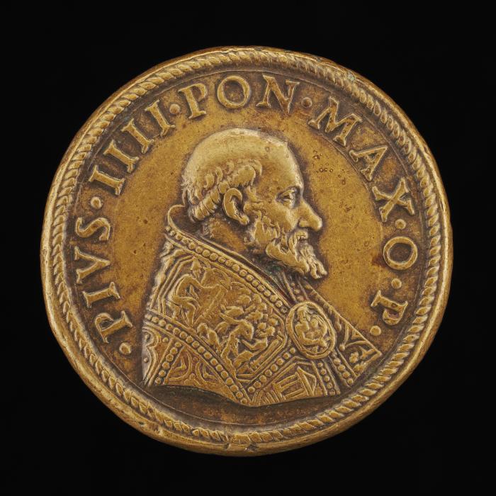 Image for Pius IV (Giovanni Angelo de' Medici, 1499-1565), Pope 1559 [obverse]; The Porta Pia [reverse]