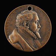 Image for Sebastian Zäh, 1527-1598, Merchant and Financier [obverse]; Susanna Schlecht, Wife of Sebastian Zah 1560 [reverse]