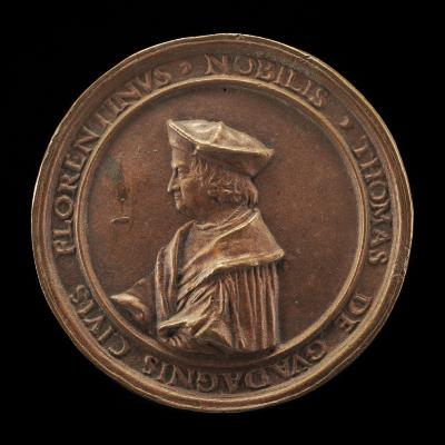Image for Tommaso Guadagni, 1454-1533, Banker, Florentine Consul at Lyon 1505, Municipal Counselor 1506-1527, Counselor to François I 1523 [obverse]; Arms of Gaudagni [reverse]