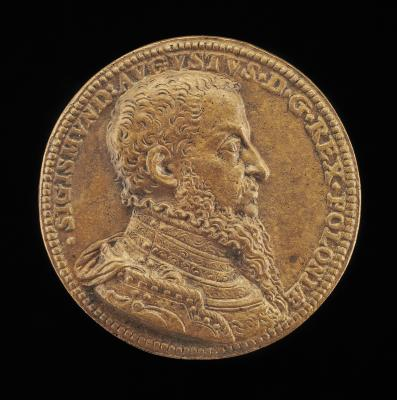 Image for Sigismund II Augustus, 1520-1572, King of Poland 1548 [obverse]; The King on Horseback [reverse]