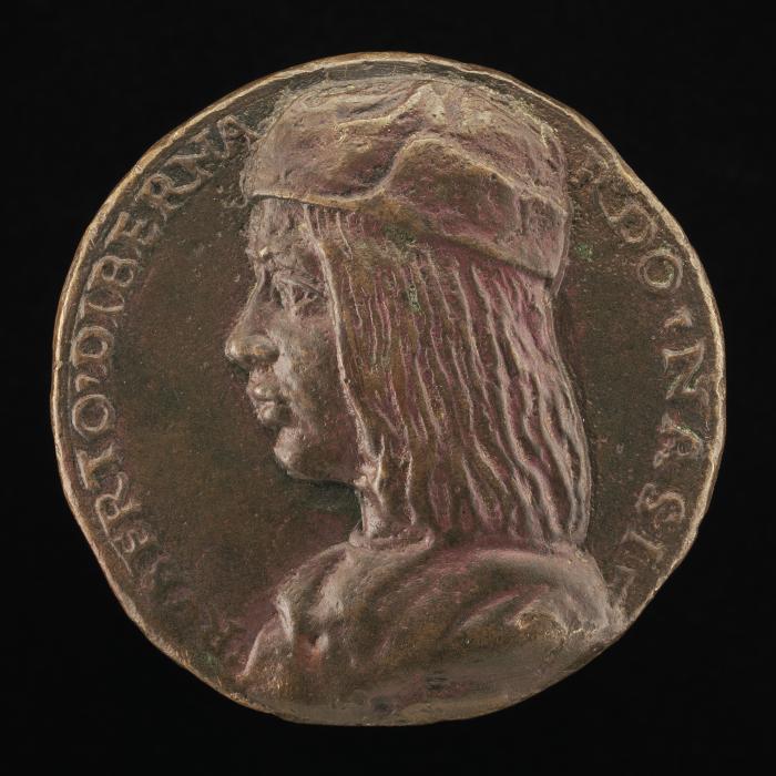 Image for Ruberto di Bernardo Nasi, born 1479, Prior of Liberty 1513 [obverse]; Virginity Tying Love to a Tree [reverse]