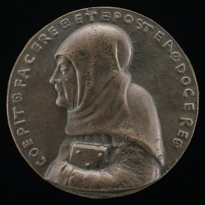 Image for Saint Bernardino of Siena, 1380-1444, Canonized 1450 [obverse]; The Trigram in a Flaming Halo [reverse]